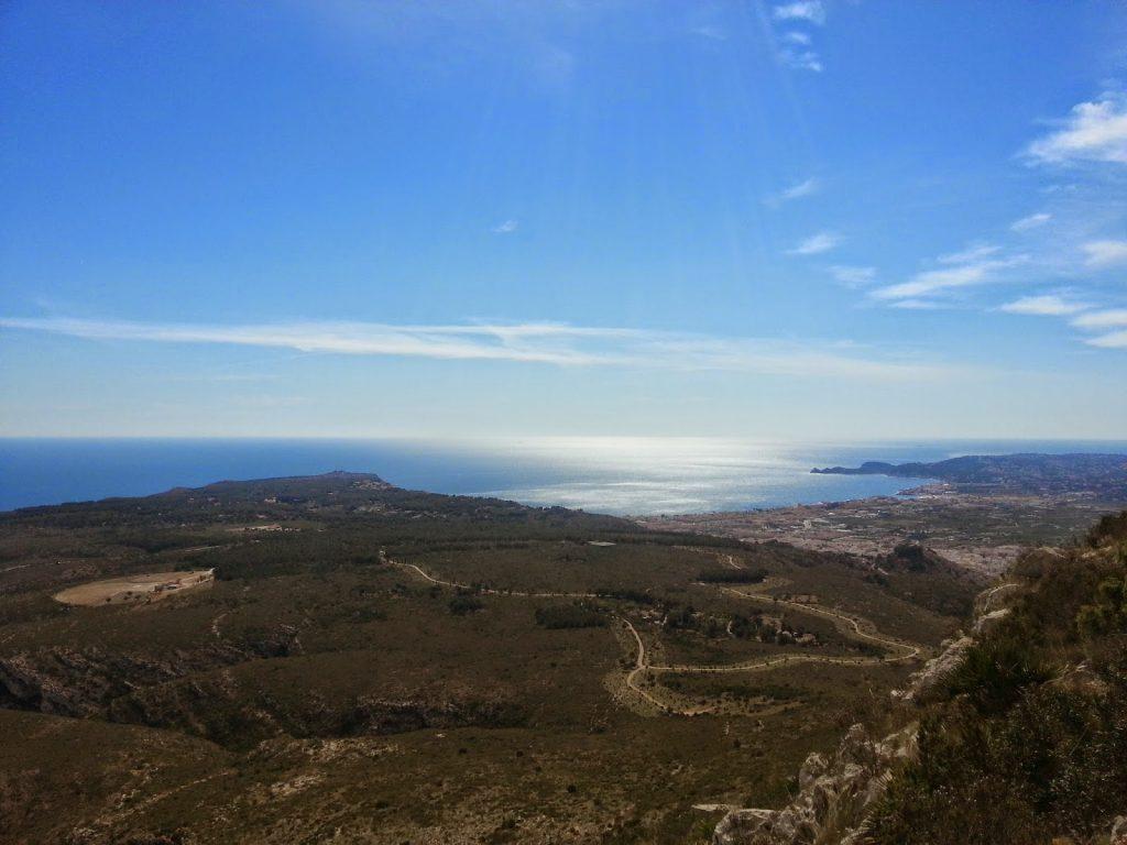 Ruta Montgó Xabia vistas mar