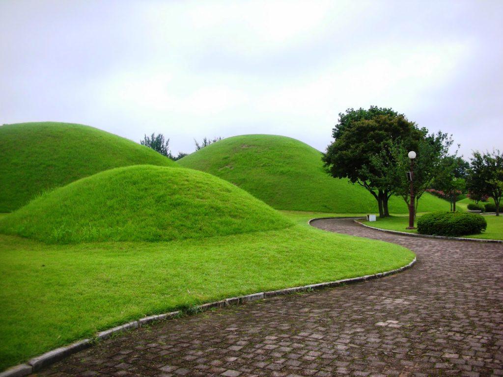 Parque de los tumulos, corea del sur