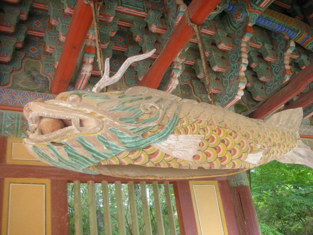 templo de Bulguksa escultura pez
