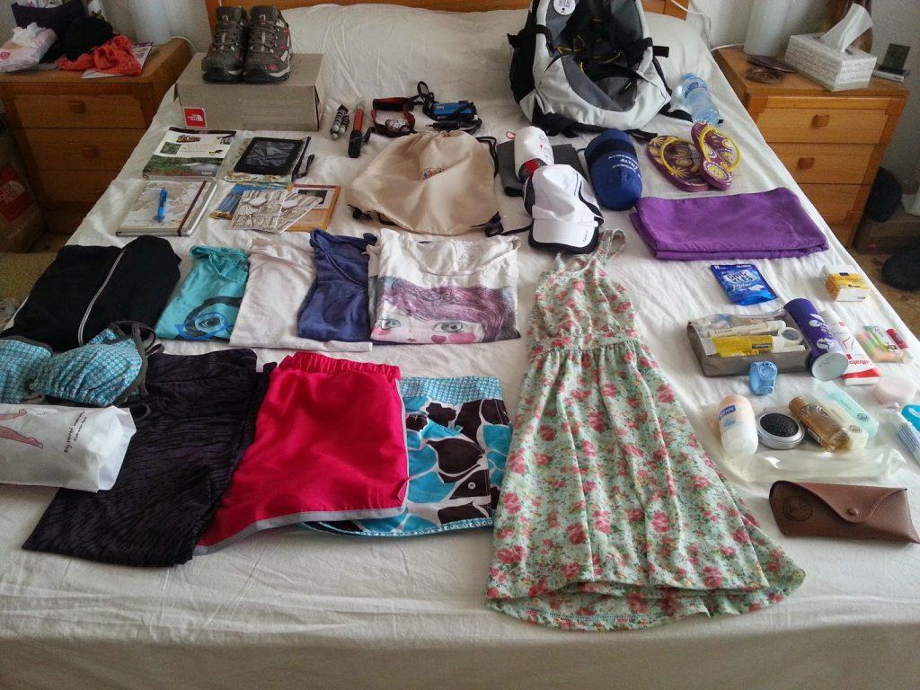 equipaje camino santiago