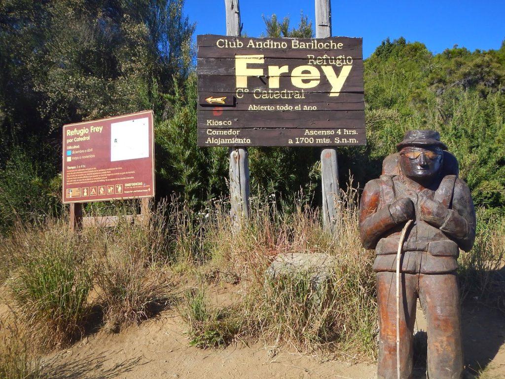 ruta refugio Frey Bariloche