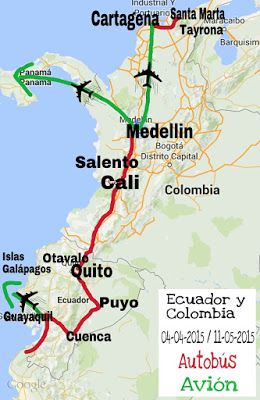 Ruta ecuador y colombia