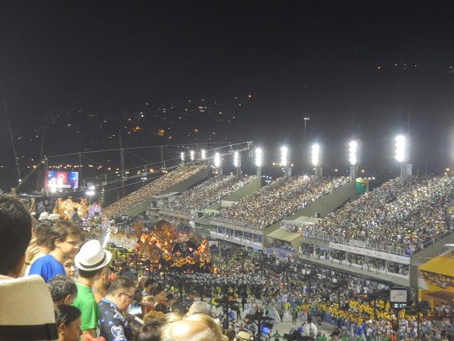 Carnaval en Rio, dentro del sambodromo