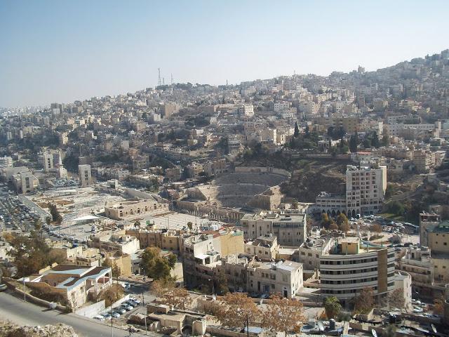 Vistas Ammán desde templo de Hércules