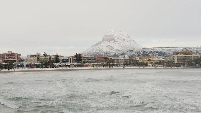 Nieve en Javea Xabia